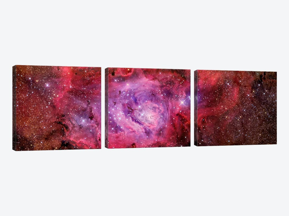 The Lagoon Nebula (NGC 6523) by R. Jay GaBany 3-piece Canvas Art