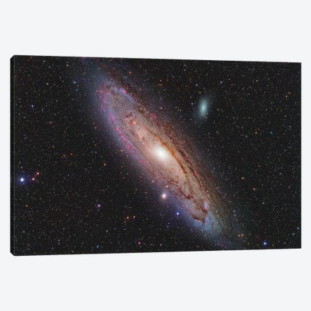 Andromeda Galaxy (NGC 224) 3-Piece Canvas #TRK1288} by Reinhold Wittich Canvas Wall Art