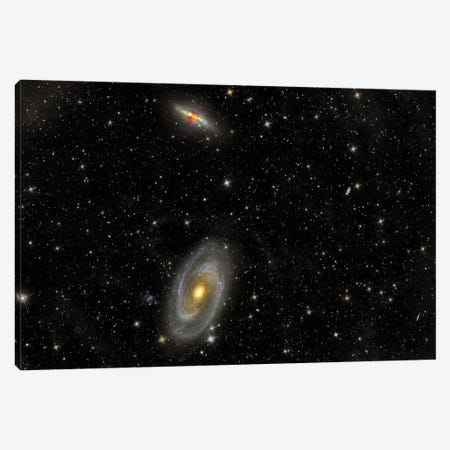 Cigar Galaxy And Bode's Galaxy In The Constellation Ursa Major Canvas Print #TRK1289} by Reinhold Wittich Canvas Art