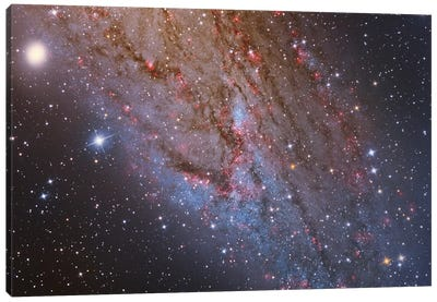 Close-Up Of The Southwest Spiral Arm Of Andromeda Galaxy (M31 ) Canvas Art Print