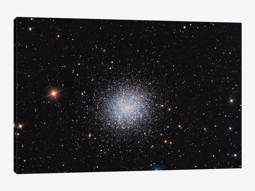 Globular Cluster (M13) In The Constellation Hercules by Reinhold Wittich 1-piece Canvas Art