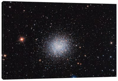 Globular Cluster (M13) In The Constellation Hercules Canvas Art Print