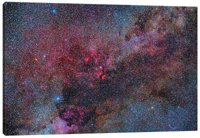 Part Of The Milky Way Constellation In Cygnus Canvas Art Print