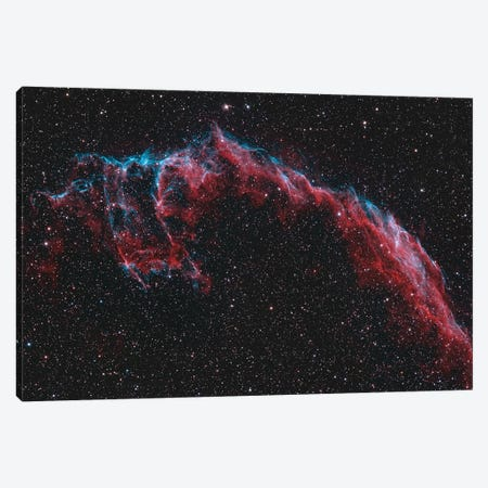 The Eastern Veil Nebula (NGC 6992) Canvas Print #TRK1296} by Reinhold Wittich Canvas Art