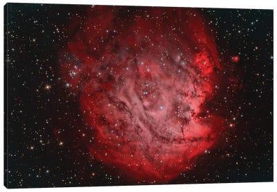 The Monkey Head Nebula (NGC 2174) With IC 2159 Nebulosity Canvas Art Print