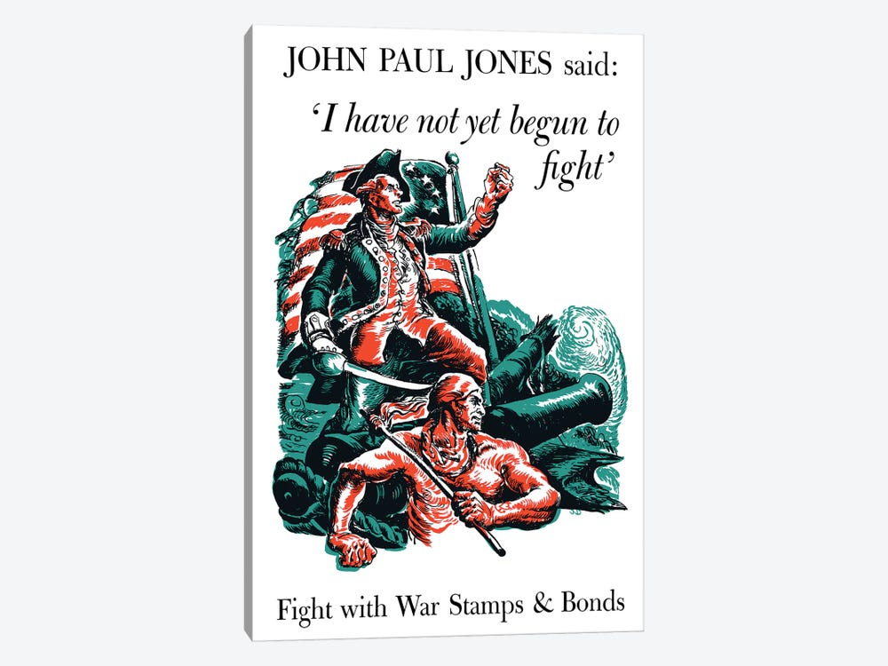 Fight With War Stamps & Bonds Wartime Poster by John Parrot 1-piece Canvas Art