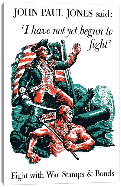 Fight With War Stamps & Bonds Wartime Poster Canvas Art Print