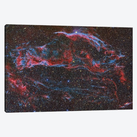 The Western Veil Nebula (NGC 6960) Canvas Print #TRK1305} by Reinhold Wittich Canvas Art