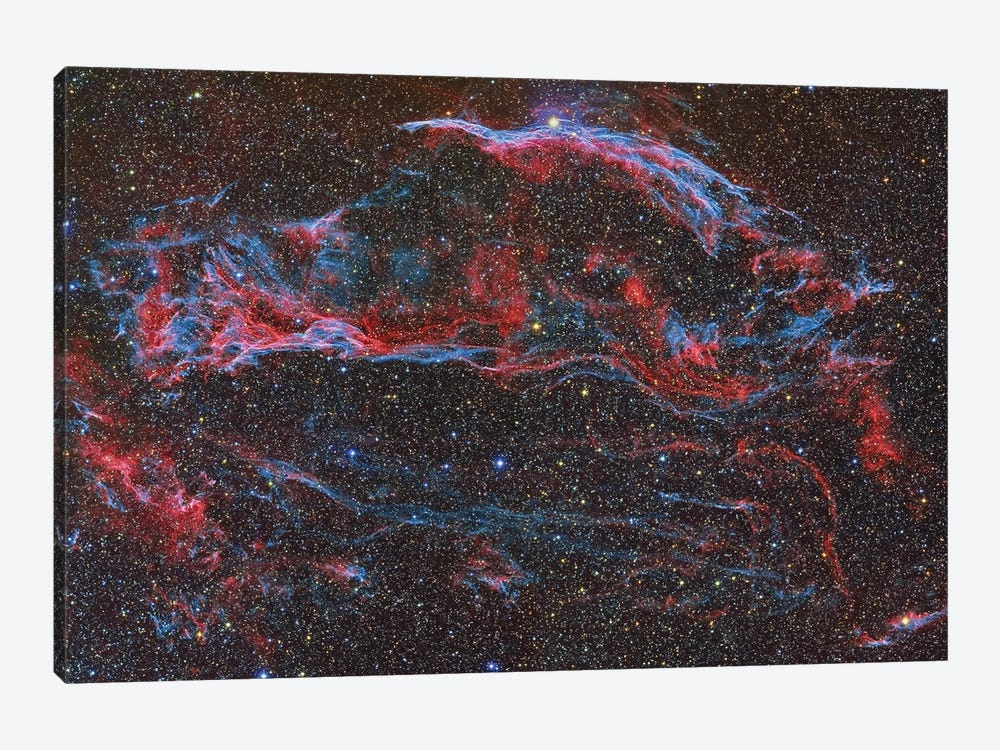 The Western Veil Nebula (NGC 6960) by Reinhold Wittich 1-piece Canvas Art