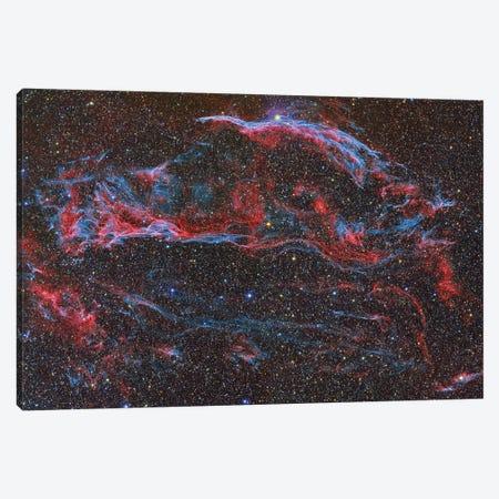 The Western Veil Nebula (NGC 6960) Canvas Print #TRK1305} by Reinhold Wittich Canvas Art