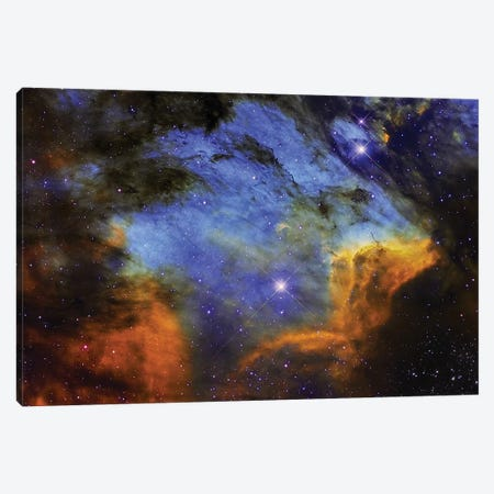 A Colorful Pelican Nebula In The Constellation Cygnus Canvas Print #TRK1311} by Roberto Colombari Canvas Art