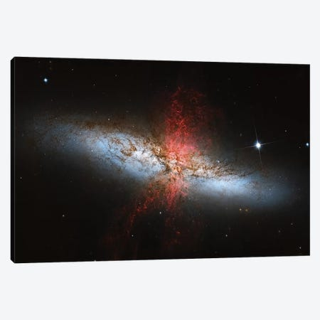 A Starburst Galaxy (M82) In The Ursa Major Constellation Canvas Print #TRK1313} by Roberto Colombari Canvas Art