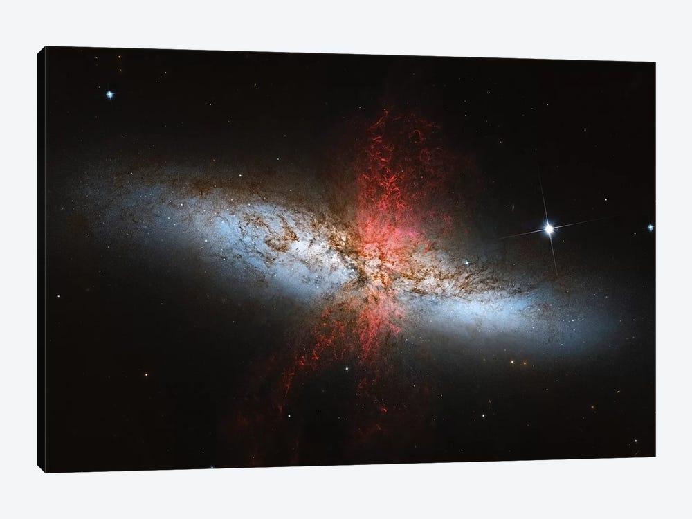 A Starburst Galaxy (M82) In The Ursa Major Constellation by Roberto Colombari 1-piece Canvas Art Print