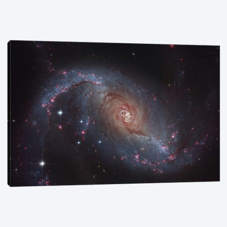 Barred Spiral Galaxy (NGC 1672) In The Constellation Dorado Canvas Print #TRK1314} by Roberto Colombari Canvas Art Print