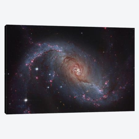 Barred Spiral Galaxy (NGC 1672) In The Constellation Dorado Canvas Print #TRK1314} by Roberto Colombari Canvas Art Print