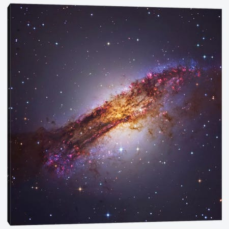 Centaurus A - Galaxy In The Constellation Centaurus 3-Piece Canvas #TRK1315} by Roberto Colombari Art Print