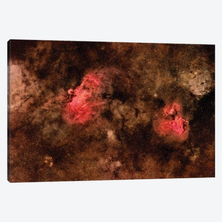Eagle Nebula (M16) And Swan Nebula (M17) I Canvas Print #TRK1316} by Roberto Colombari Art Print