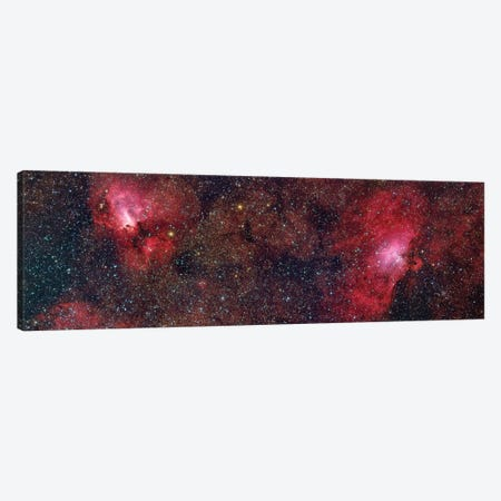 Eagle Nebula (M16) And Swan Nebula (M17) III Canvas Print #TRK1318} by Roberto Colombari Canvas Wall Art