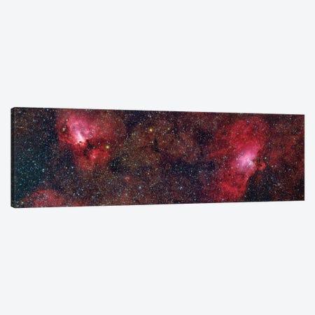 Eagle Nebula (M16) And Swan Nebula (M17) III Canvas Print #TRK1318} by Roberto Colombari Canvas Wall Art