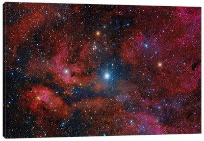Gamma Cygni Star And Its Surroundings Canvas Art Print