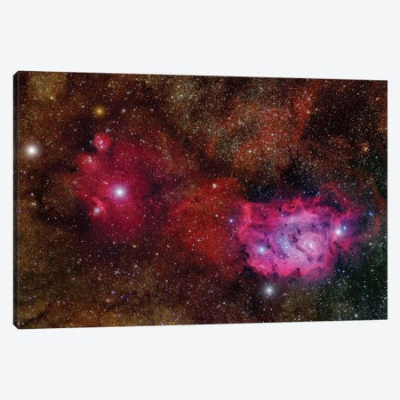 Starforming Region (NGC 6559) In The Sagittarius Constellation Canvas Print #TRK1326} by Roberto Colombari Canvas Art