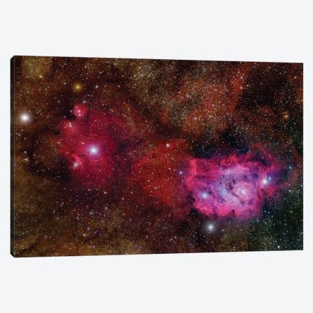 Starforming Region (NGC 6559) In The Sagittarius Constellation Canvas Print #TRK1326} by Roberto Colombari Canvas Art