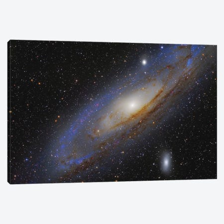 The Andromeda Galaxy (M31) II 3-Piece Canvas #TRK1328} by Roberto Colombari Art Print
