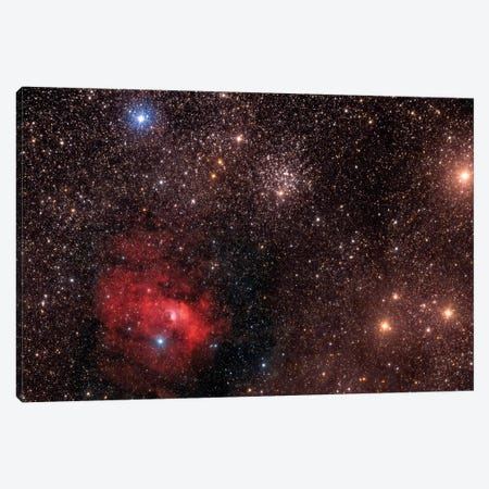 The Bubble Nebula (NGC 7635), An Emission Nebula In Cassiopeia Constellation Canvas Print #TRK1330} by Roberto Colombari Canvas Artwork