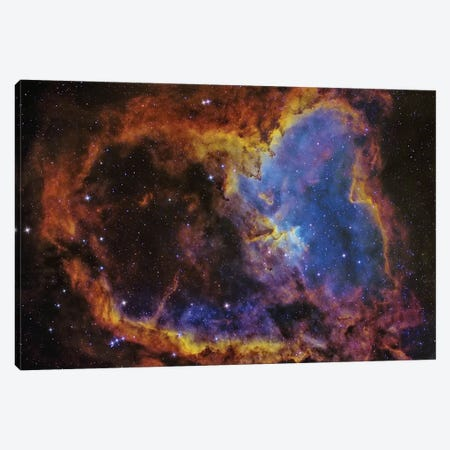 The Heart Nebula (IC 1805) In The Cassiopeia Constellation Canvas Print #TRK1334} by Roberto Colombari Canvas Print
