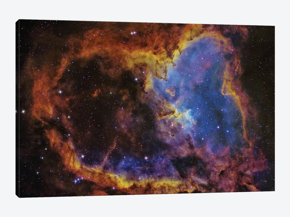 The Heart Nebula (IC 1805) In The Cassiopeia Constellation by Roberto Colombari 1-piece Canvas Artwork