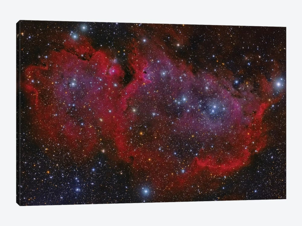 The Heart Nebula In The Cassiopeia Constellation by Roberto Colombari 1-piece Canvas Print