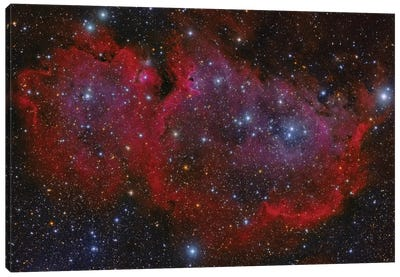 The Heart Nebula In The Cassiopeia Constellation Canvas Art Print