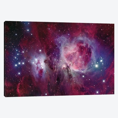 The Orion Nebula With Reflection Nebula (NGC 1977) Canvas Print #TRK1337} by Roberto Colombari Canvas Art Print