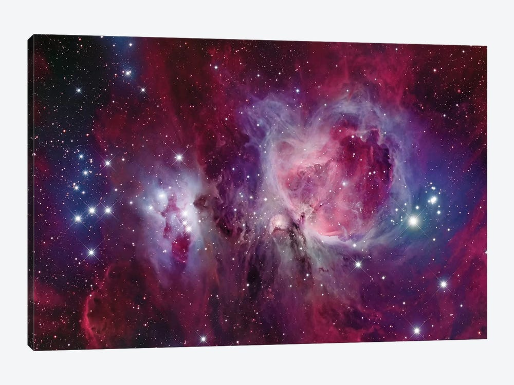 The Orion Nebula With Reflection Nebula (NGC 1977) by Roberto Colombari 1-piece Canvas Print