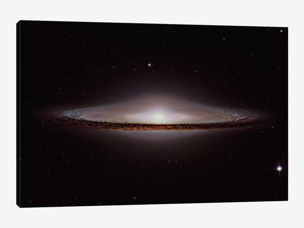 The Sombrero Galaxy (NGC 4594) by Roberto Colombari 1-piece Canvas Wall Art
