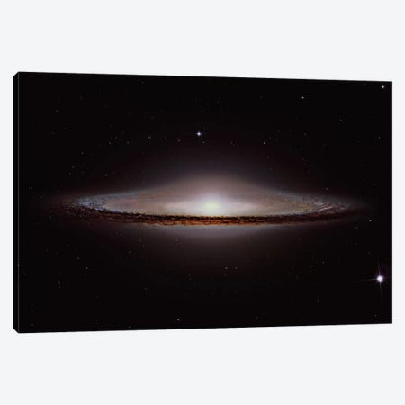 The Sombrero Galaxy (NGC 4594) 3-Piece Canvas #TRK1341} by Roberto Colombari Canvas Art Print