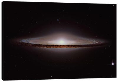 The Sombrero Galaxy (NGC 4594) Canvas Art Print