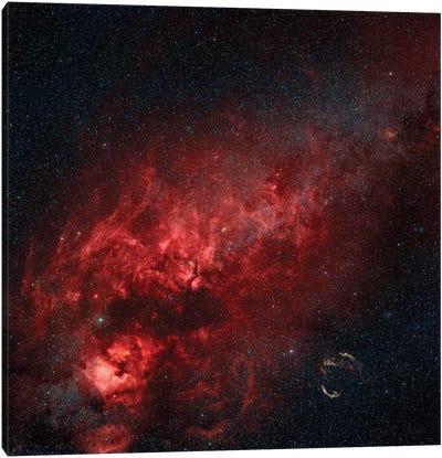 Constellation Cygnus With Multiple Nebulae Visible Canvas Art Print