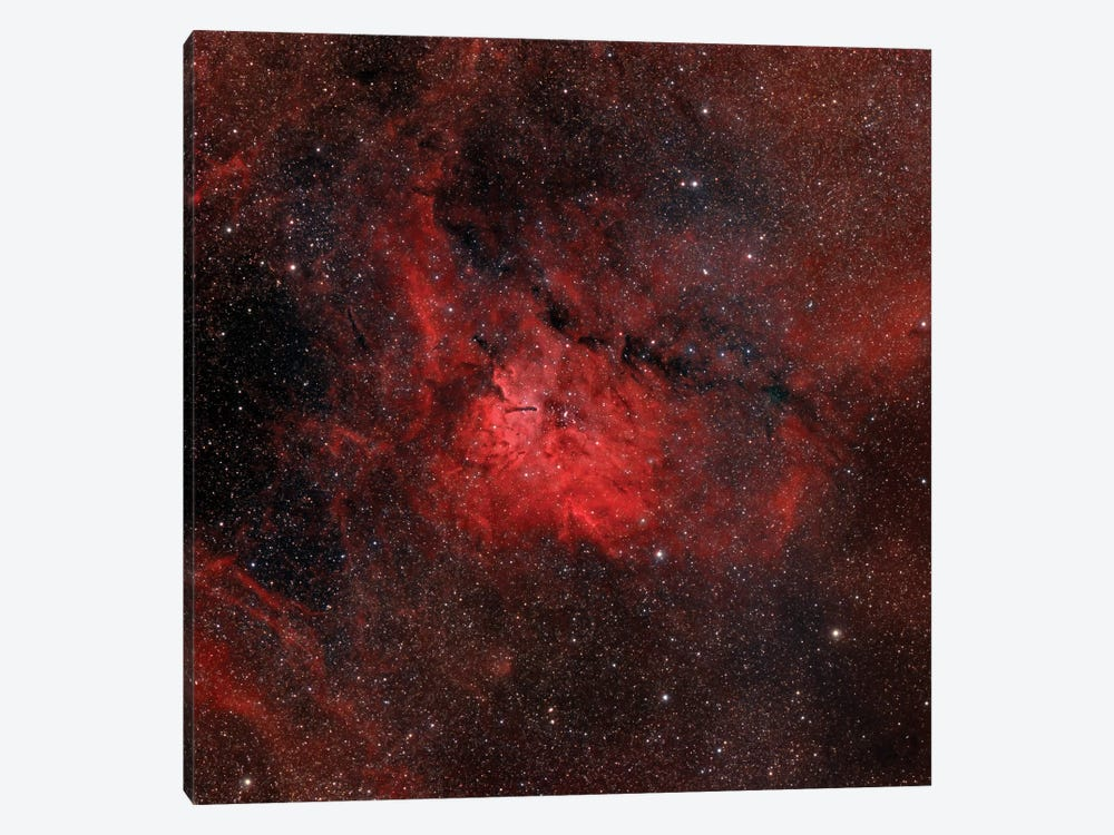 Emission Nebula (NGC 6820) by Rolf Geissinger 1-piece Canvas Print