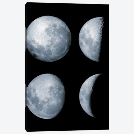 Four Phases Of The Moon Canvas Print #TRK1347} by Rolf Geissinger Canvas Artwork