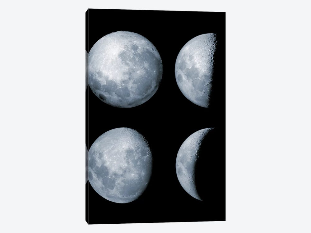 Four Phases Of The Moon by Rolf Geissinger 1-piece Canvas Artwork
