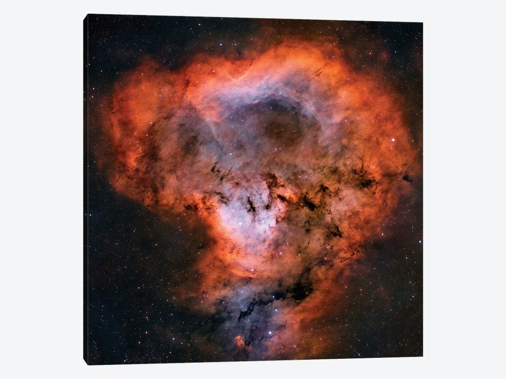 NGC 7822 Emission Nebula by Rolf Geissinger 1-piece Canvas Print