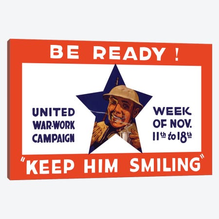 WWI Propaganda Poster For The United War Work Campaign Canvas Print #TRK134} by John Parrot Canvas Artwork