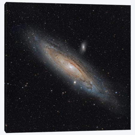 The Andromeda Galaxy (NGC 224) Canvas Print #TRK1350} by Rolf Geissinger Canvas Wall Art