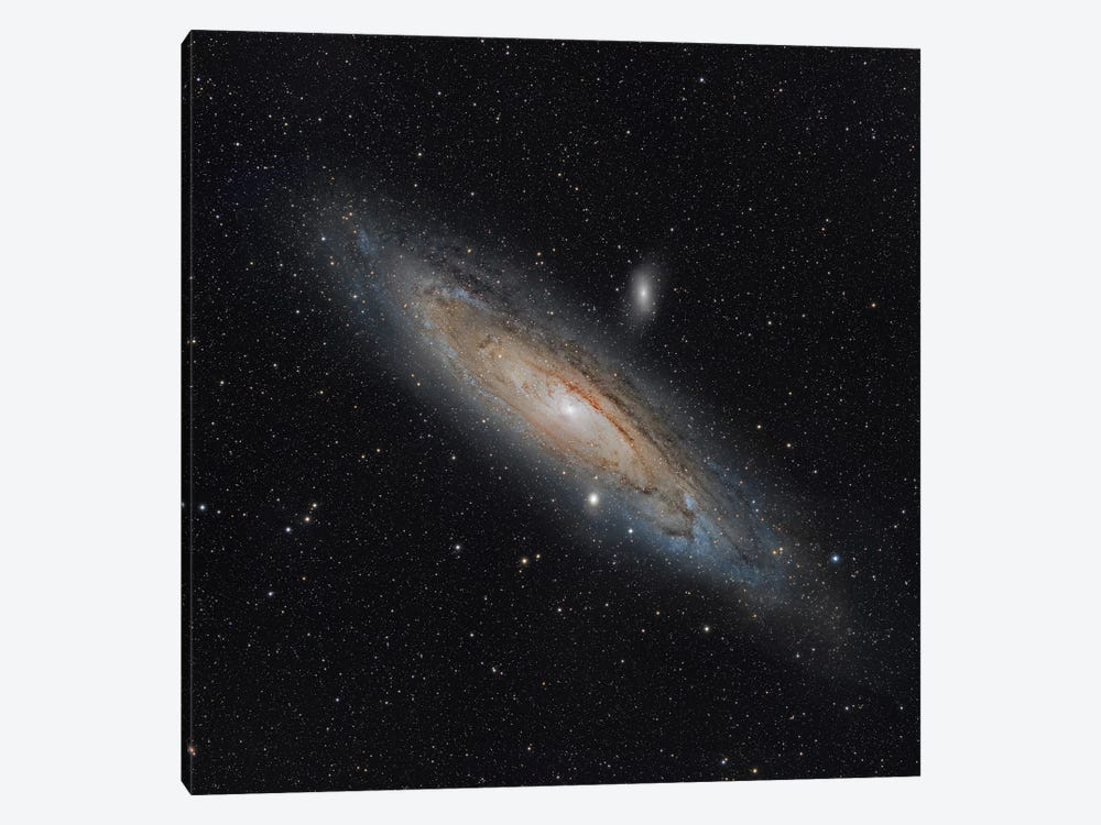 The Andromeda Galaxy (NGC 224) by Rolf Geissinger 1-piece Canvas Wall Art