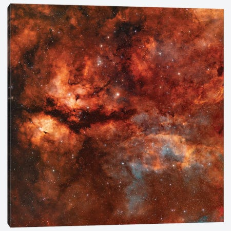 The Butterfly Nebula (IC 1318) Around Star Gamma-Cygni Canvas Print #TRK1351} by Rolf Geissinger Canvas Artwork