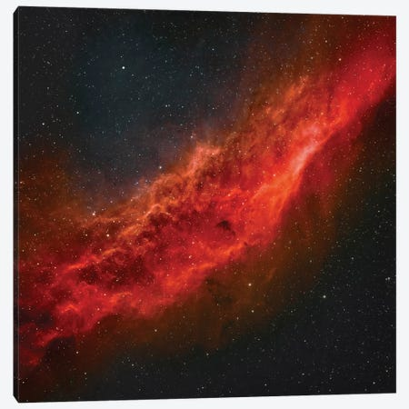 The California Nebula (NGC 1499) II Canvas Print #TRK1353} by Rolf Geissinger Canvas Artwork
