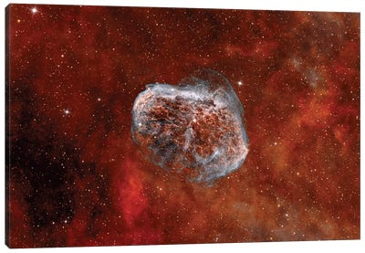 The Crescent Nebula With Soap-Bubble Nebula Canvas Art Print