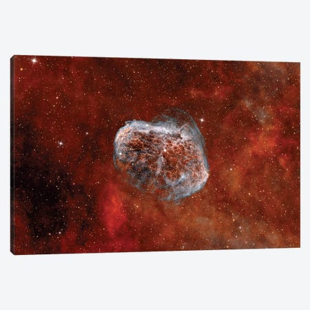 The Crescent Nebula With Soap-Bubble Nebula Canvas Print #TRK1355} by Rolf Geissinger Art Print