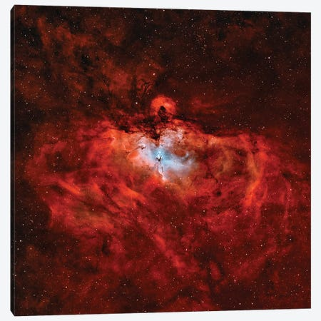 The Eagle Nebula (M16) In The Constellation Serpens Canvas Print #TRK1356} by Rolf Geissinger Art Print